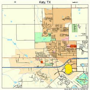 where is katy in the map katy map 4838476