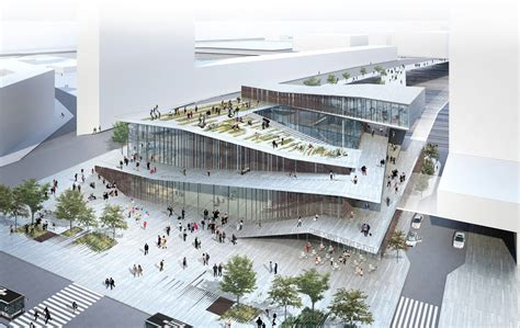 design competition models kengo kuma wins competition to design metro station in