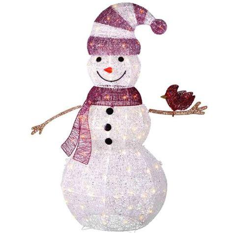 menards outdoor lighted decorations 48 quot lighted glitter snowman at menards 174