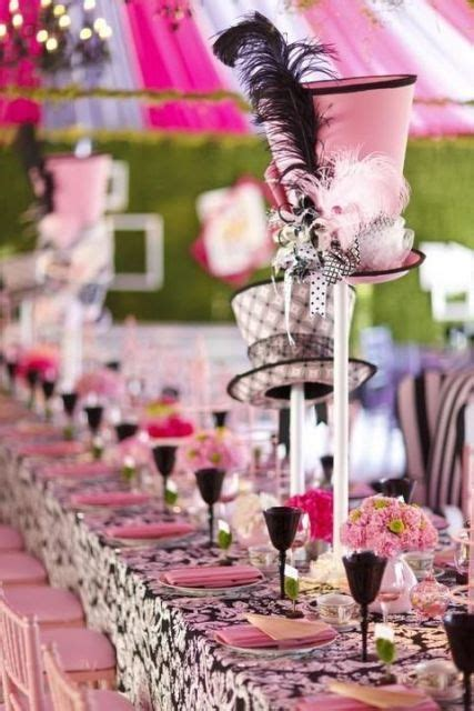 Picture Of Alice in Wonderland bridal shower table idea