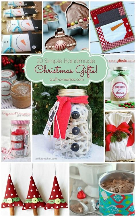 20 simple handmade christmas gifts