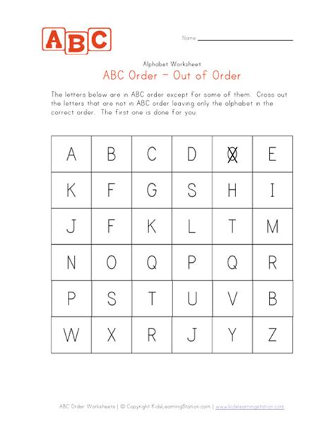 alphabet ordering worksheets alphabetical order worksheet capital letters learning station