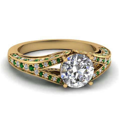 yellow gold white engagement wedding ring