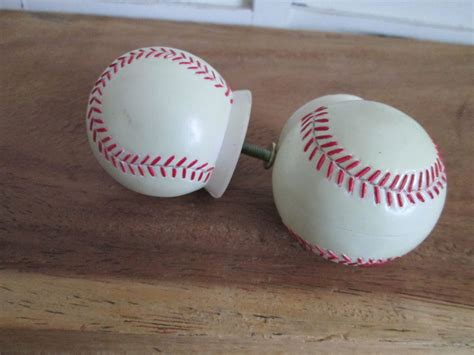 baseball themed drawer pulls 2 baseball drawer handles pulls knobs sports theme