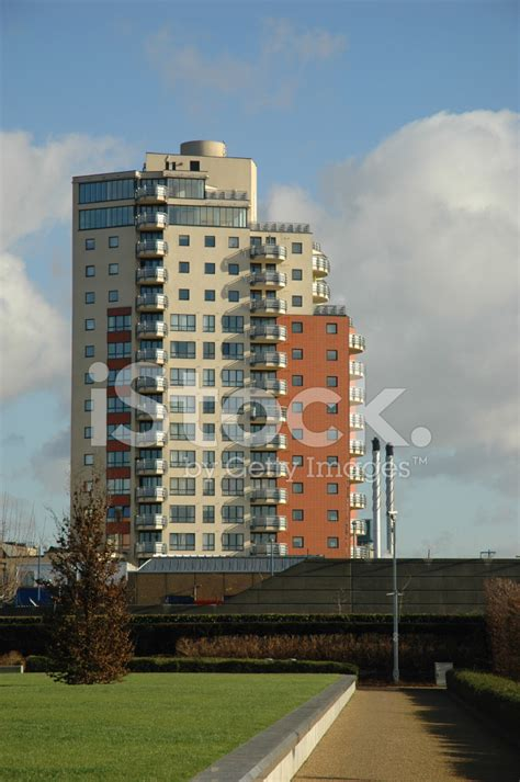 thames barrier apartments modern apartment block by the thames stock photos