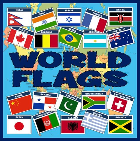 flags of the world ks1 geography bundle activities key word display