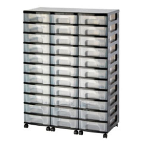 Clear Drawer Storage Units Really Useful Storage Unit 33 X 7 Litre Black Tower Clear