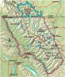 map of glacier national park canada glacier national park map