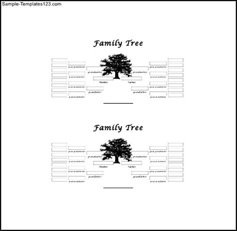 3 generation family tree template word 5 generation simple family tree free word sle templates