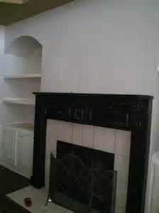 hometalk chalk painted fireplace mantel