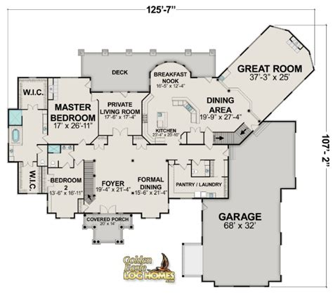 Big Home Floor Plans | luxury log homes large log cabin home floor plans eagle