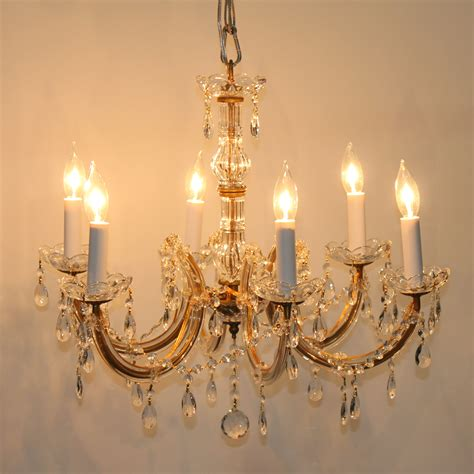 Gold Chandeliers Vienna 6 Light Chandelier With Clear Gold Trim Town Country Event Rentals