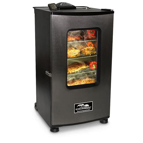 masterbuilt 30 quot electric digital smoker with window and rf