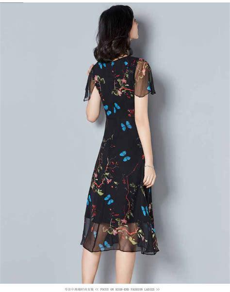 Dress Wanita Inner Hitam dress warna hitam motif cantik myrosefashion