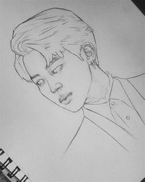 V Drawing Jimin by Boceto De Jimin идеи для рисунков
