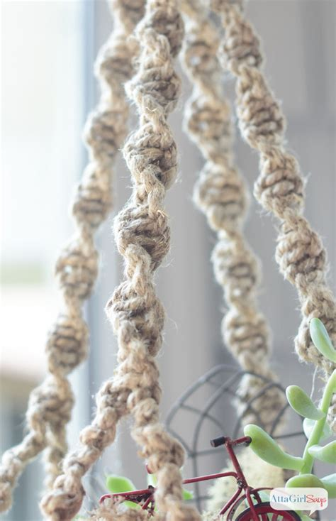 How Do You Make A Macrame Plant Hanger - diy macrame plant hanger closeups