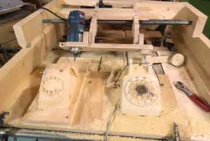 wood pattern duplicator copy carving a rotary dial telephone make