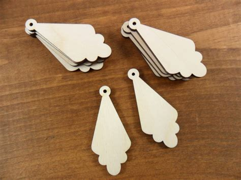 25 earring shapes scalloped triangle 2 h x 7 8 w x