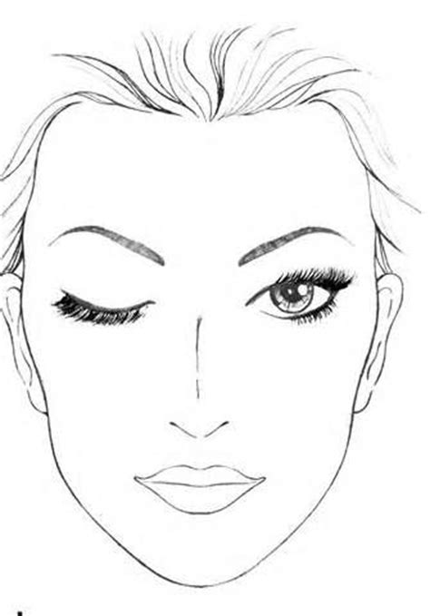 printable makeup stencils blank face template for makeup blank mac face charts