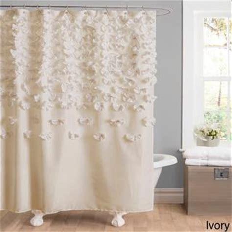 shower curtain overstock lush decor lucia shower curtain overstock com