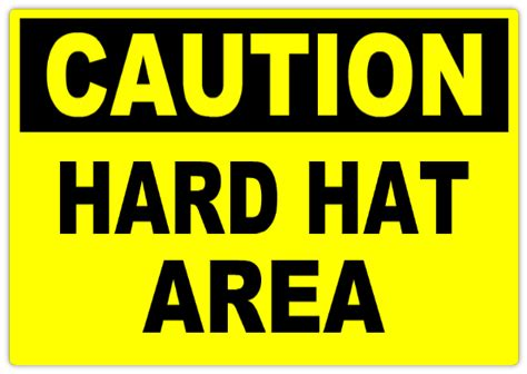 caution hard hat area 101 caution safety sign templates