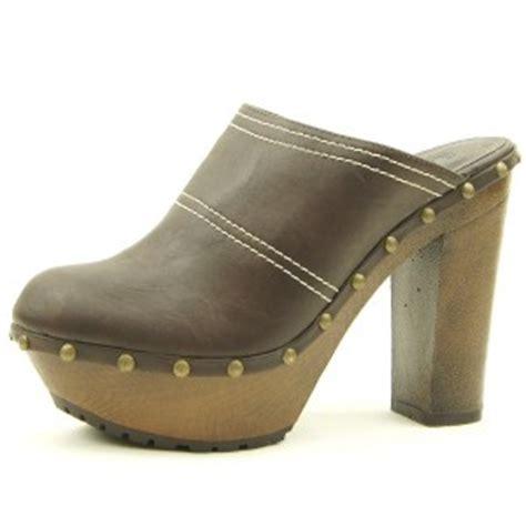 high heel s clogs mules slip on shoes black