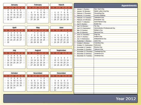41 free calendar templates