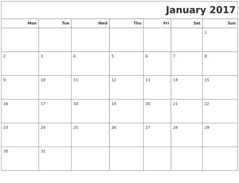 Printable Calendar Monday Start | search results for monday to sunday calendar calendar 2015
