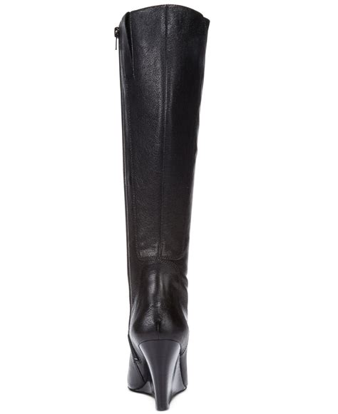 nine west wedge boots nine west heartset wedge wide calf dress boots in