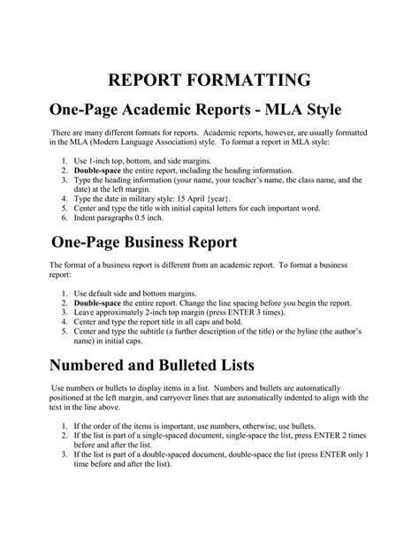 Business Study Report Sle business report sle format business report template