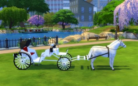 wedding carriage by maman gateau at sims artists 187 sims 4