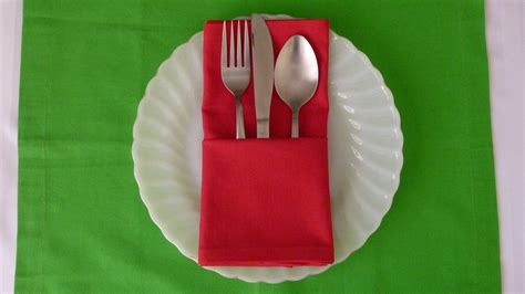 Paper Napkin Folding With Silverware - napkin folding basic pouch