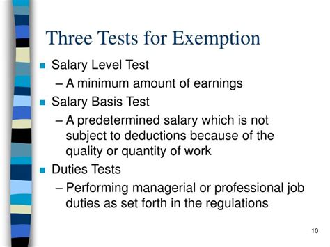 section 13 b 1 of the flsa ppt fair labor standards act flsa powerpoint