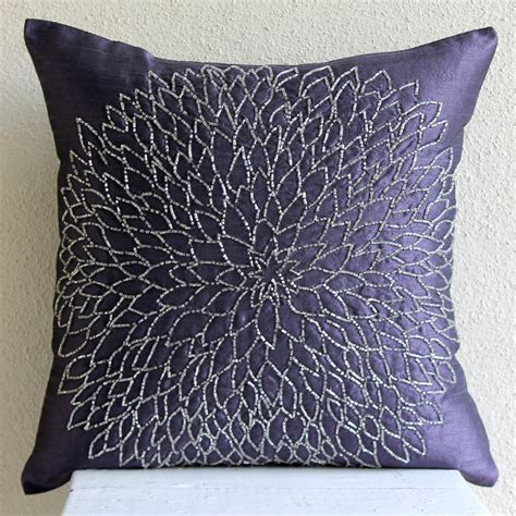 Bead Pillow by Throw Pillow Covers 20x20 Silk Bead Blue Embroidered Pillow