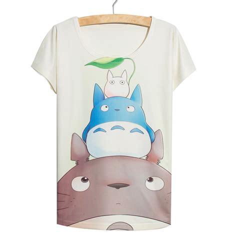 Rad Totoro Tshirt new fashion 2016 summer totoro t shirts for tops shirt casual animal print