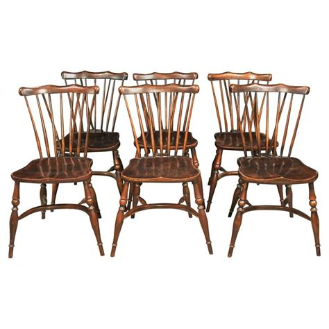 Antique Oak Dining Room Chairs by Set Of Eight Antique Oak Windsor Chairs 1920 Kitchen