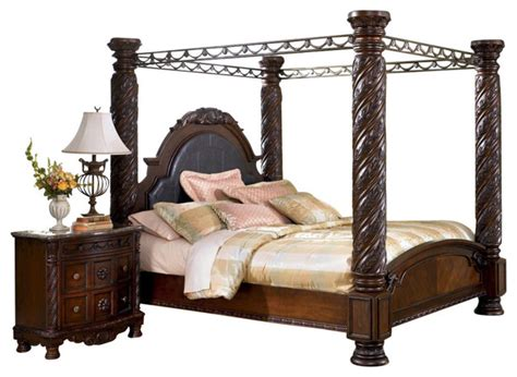 north shore king canopy bed north shore california king canopy bed in dark wood furniture by bedroom furniture
