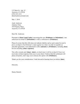 Defendant Settlement Offer Letter Ingyenoltoztetosjatekok Com Settlement Letter Template