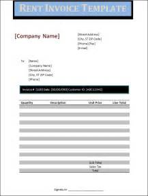 rent invoice template free rent invoice template studio design gallery best