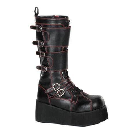 demonia platform boots demonia trashville 510 platform buckle boots