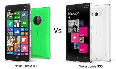 Tiny Plans by Nokia Lumia 830 Vs Nokia Lumia 930