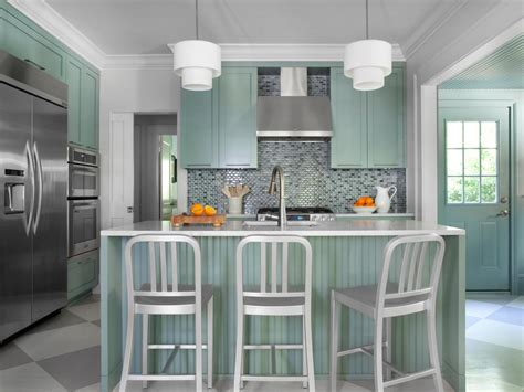 soft blue wall color ideas for modern kitchen with white red kitchen cabinets pictures ideas tips from hgtv hgtv