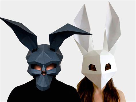diy mask skull mask low poly rabbit mask diy printable masks instant