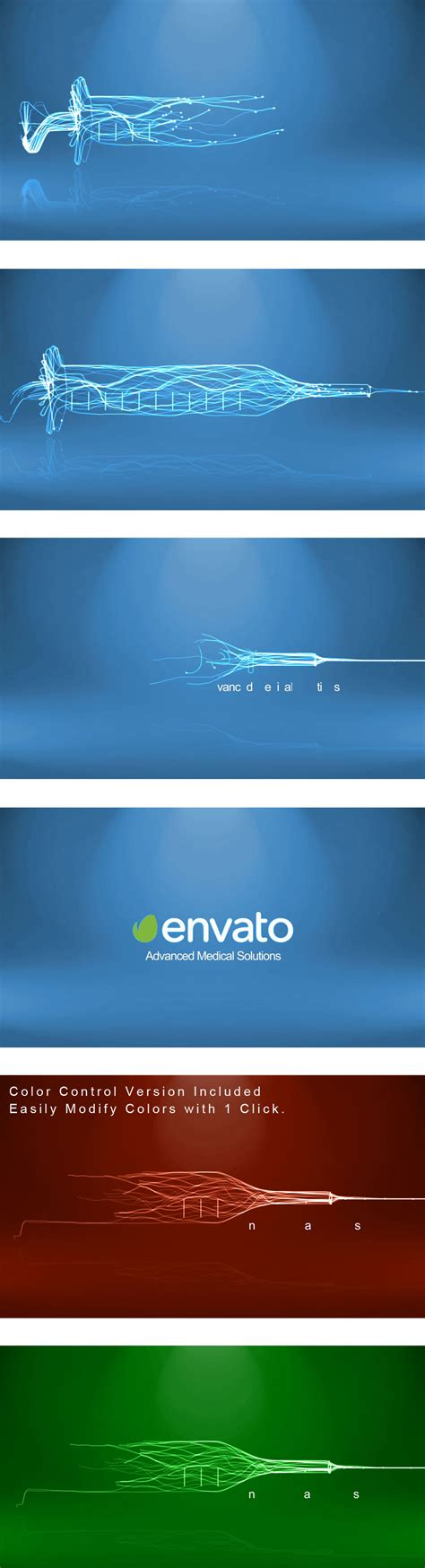 medical care syringe logo medical envato videohive