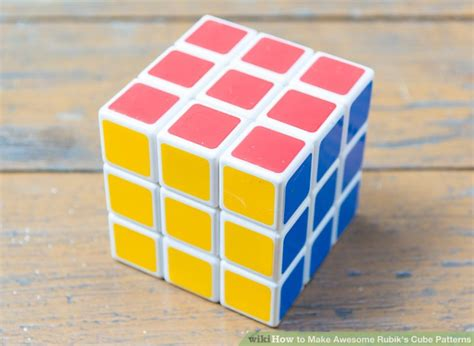 simple pattern of rubik s cube 3 ways to make awesome rubik s cube patterns wikihow