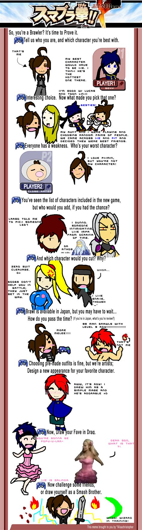 Super Smash Bros Meme - super smash bros brawl meme by itachixkisame on deviantart