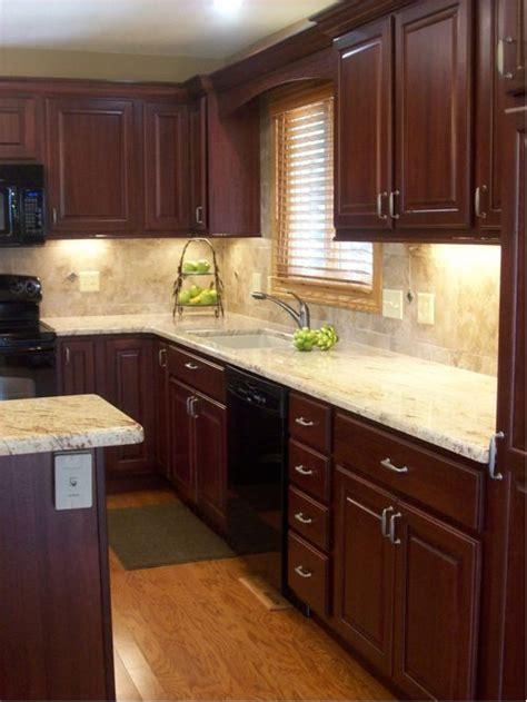 cherry cabinets kitchen pictures dark cherry cabinets houzz