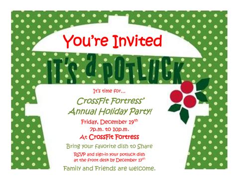 magnificent christmas invitation potluck party