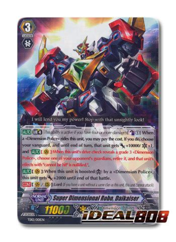 Cardfight Vanguard Singles Dimensional Robo Daihawk dimensional robo daikaiser td12 001en td