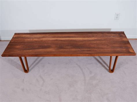 bench hairpin legs mid century dunbar bench or table with quot hairpin quot legs at